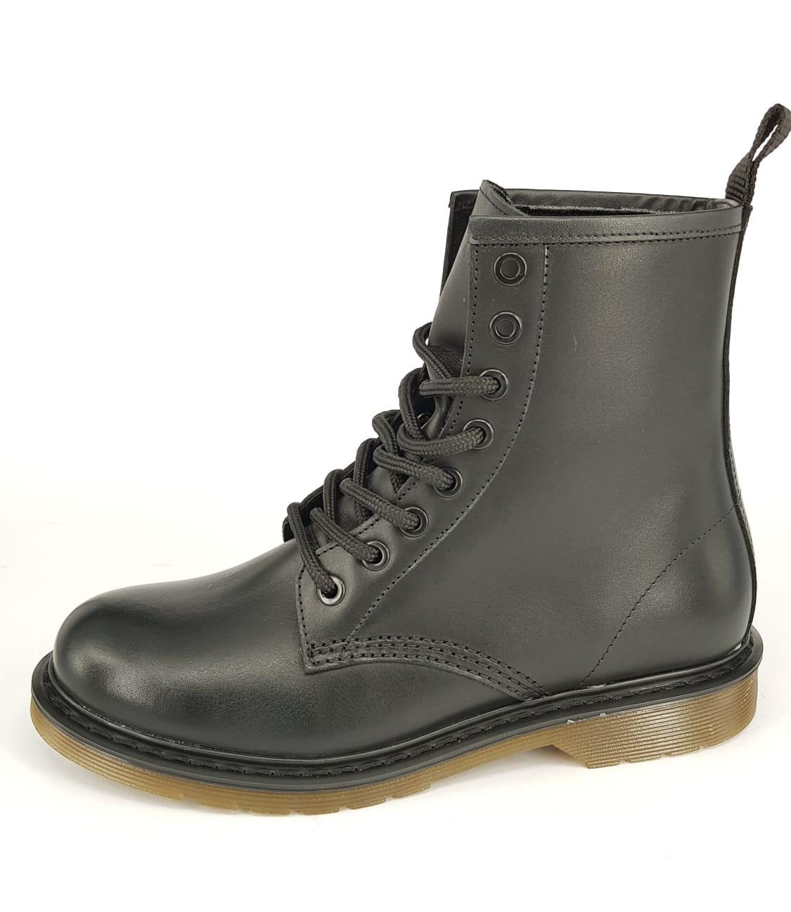 Bibop Leren Boot - Zwart Mat