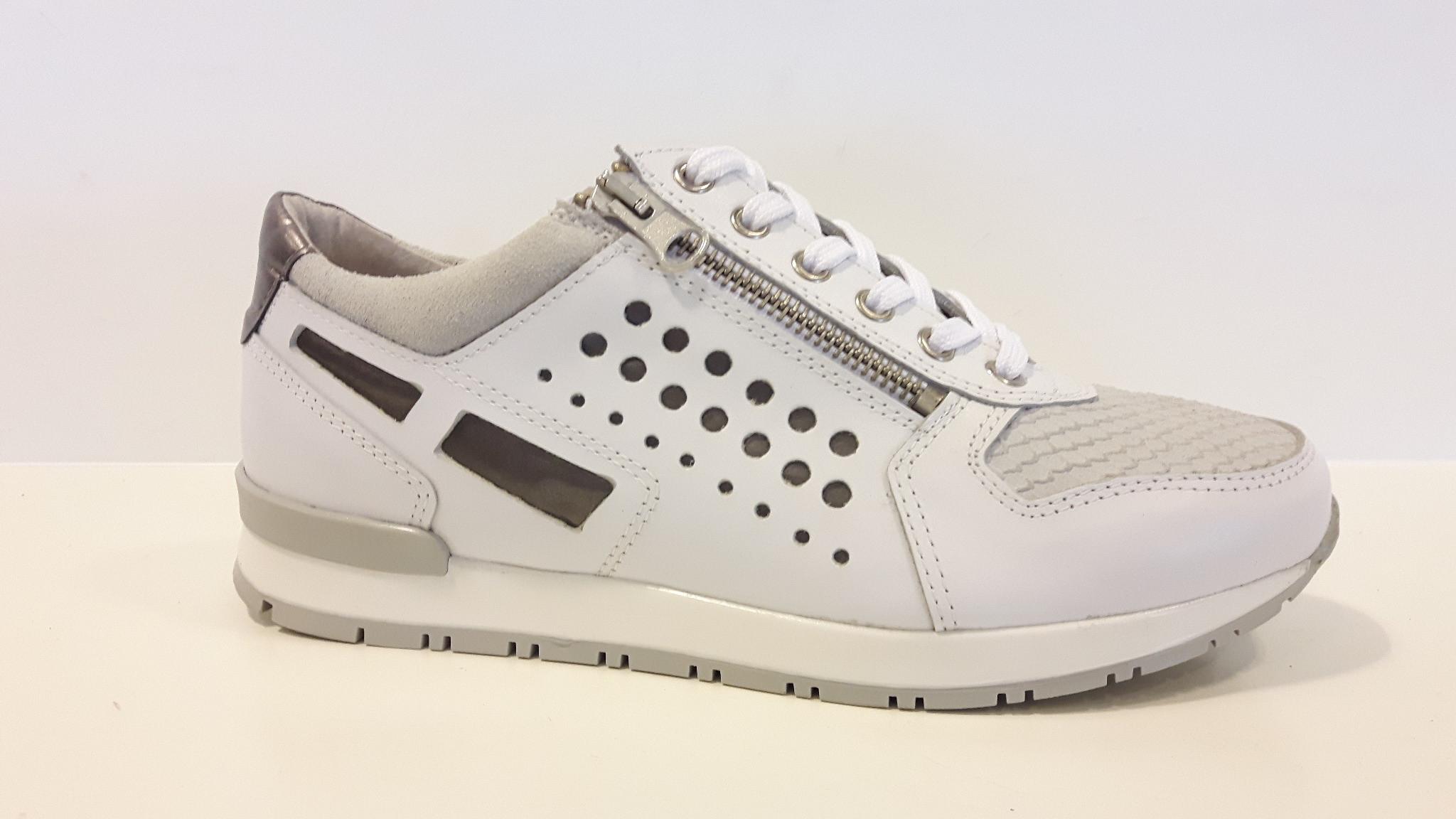 Bibop White silver Leren Sneaker