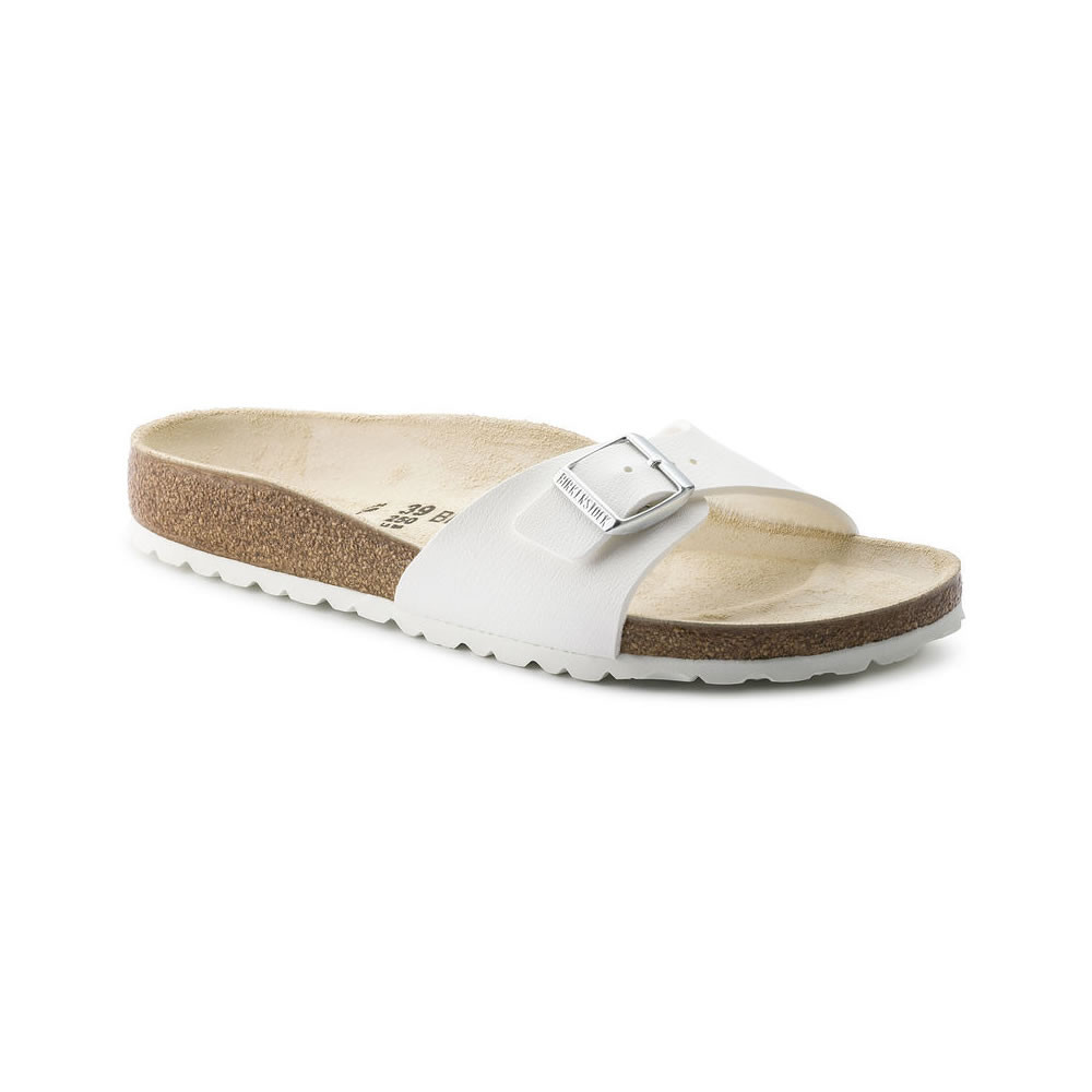 Birkenstock Madrid White - Narrow fit