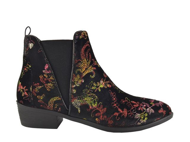 Fabs Boots Zwart combi - Patroon