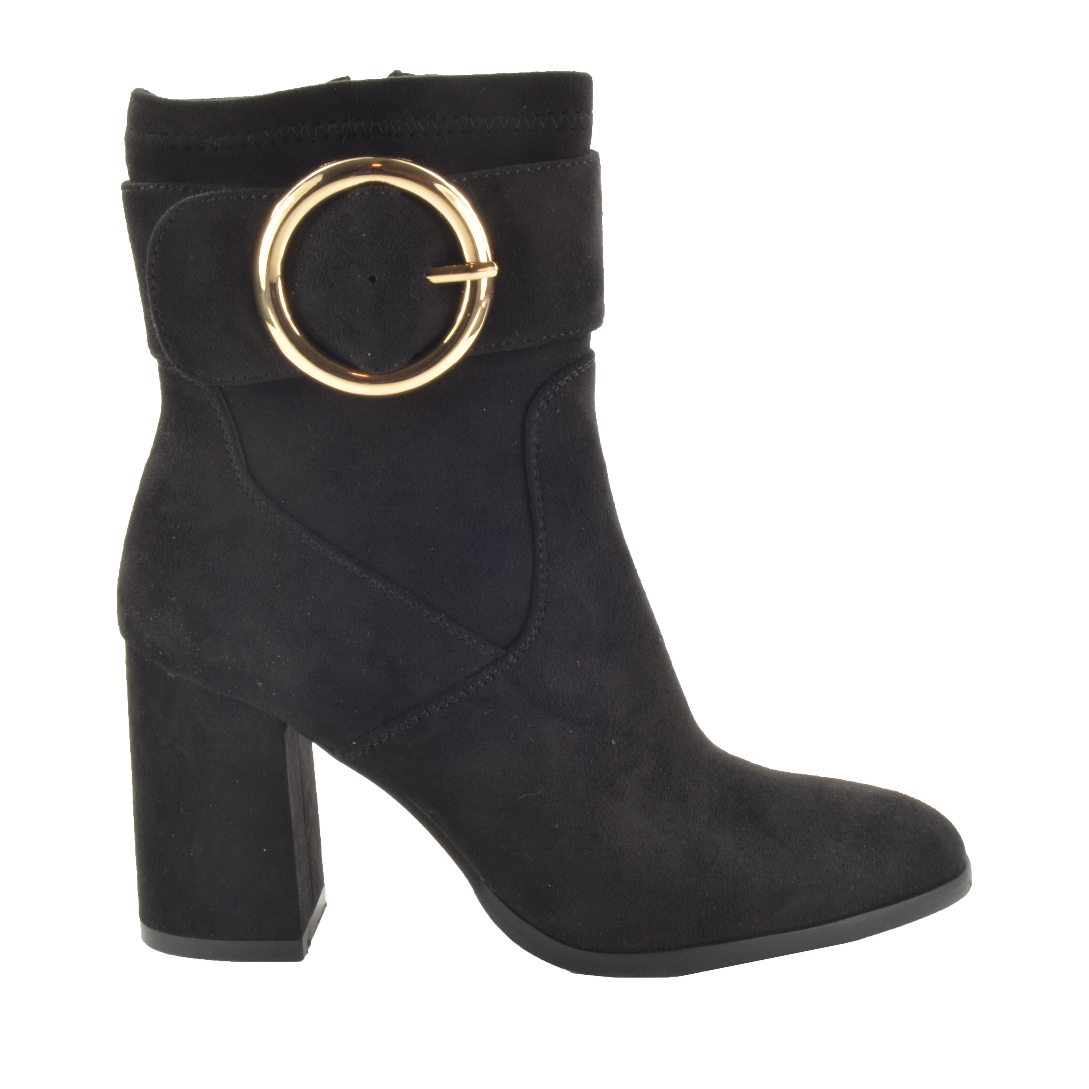 Fabs Gesp Boots Zwart