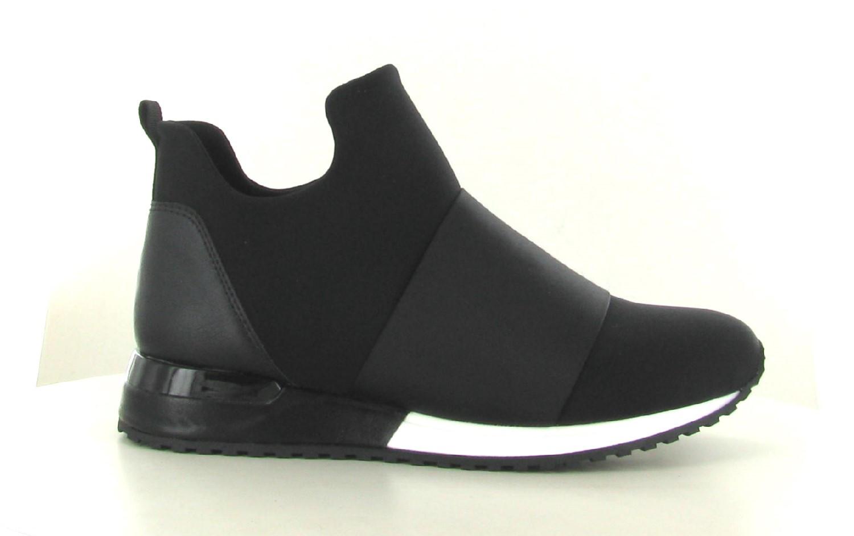 La Strada Sneaker Black Lycra Satin